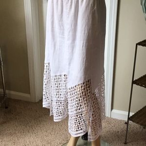 Snow White Rame Chico's open weave skirt 0 Petite
